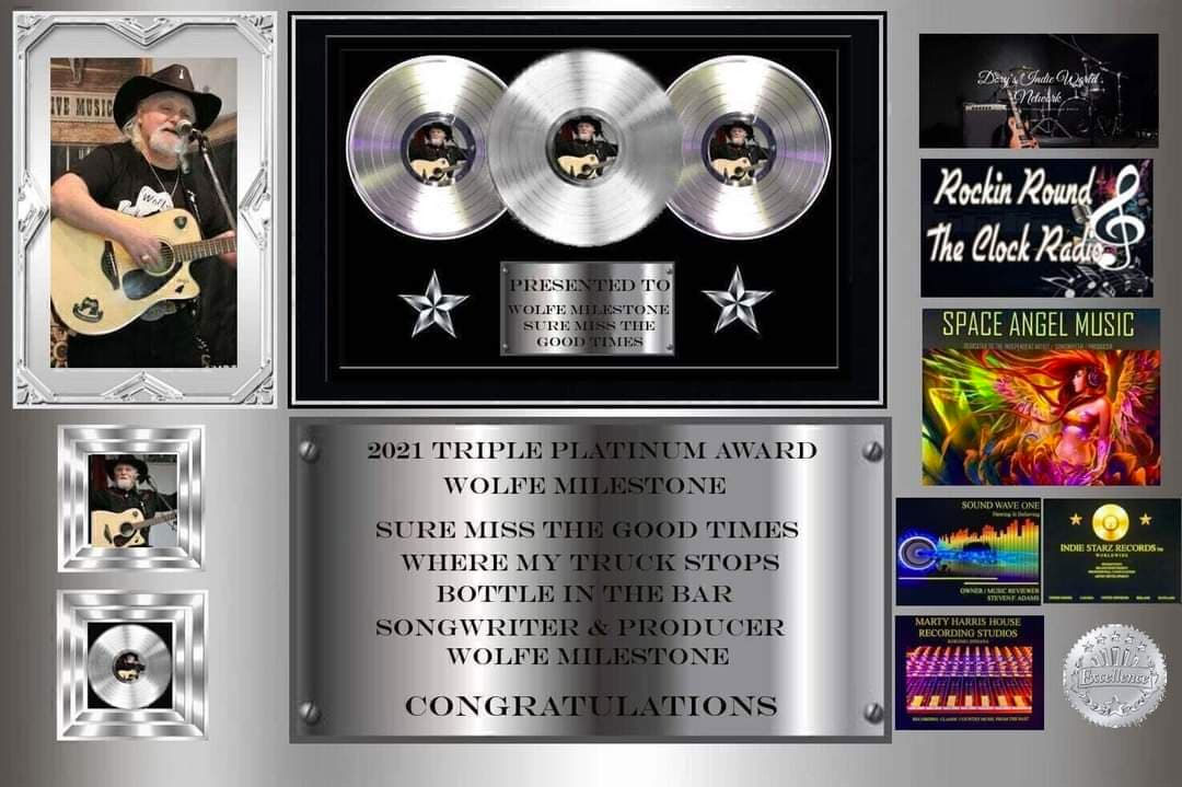 Triple Platinum Award, February, 2021